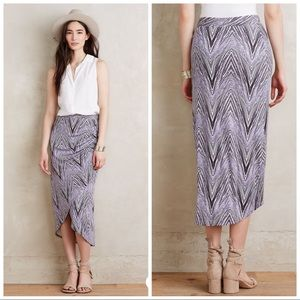Anthropologie Maeve Monetta Midi Skirt in Purple